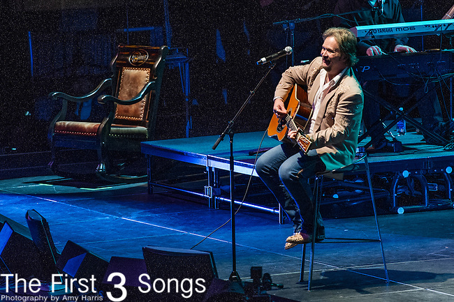 "Travis Tritt performs at the George Jones Tribute Concert ""Playin' Possum: The Final No Show"" at Bridgestone Arena in Nashville, TN"