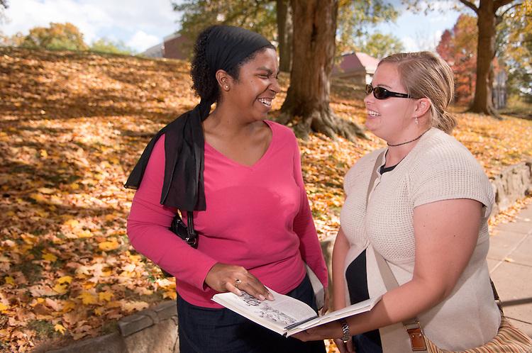 18468Campus Fall 2007..Devona Cromartie and Kristine Cavanaugh