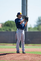 Milwaukee Brewers relief pitcher Joey Matulovich (45) looks in for the sign during an Instructional League game against the San Diego Padres at Peoria Sports Complex on September 21, 2018 in Peoria, Arizona. (Zachary Lucy/Four Seam Images)