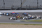 2017 F4 US Championship<br /> Rounds 4-5-6<br /> Indianapolis Motor Speedway, Speedway, IN, USA<br /> Sunday 11 June 2017<br /> Pole sitter #19 Timo Reger along side race winner Kyle Kirkwood during scramble in openning lap<br /> World Copyright: Dan R. Boyd<br /> LAT Images