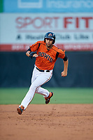 Bowie Baysox Ryan Ripken (22) running the bases during an Eastern League game against the Richmond Flying Squirrels on August 15, 2019 at Prince George's Stadium in Bowie, Maryland.  Bowie defeated Richmond 4-3.  (Mike Janes/Four Seam Images)