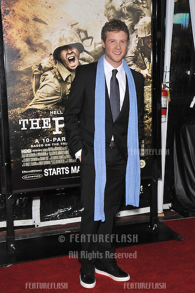 "Ashton Holmes at the premiere of his new HBO miniseries ""The Pacific"" at Grauman's Chinese Theatre, Hollywood..February 24, 2010  Los Angeles, CA.Picture: Paul Smith / Featureflash"