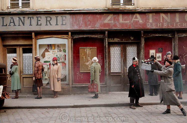 Movie set: Havel Story. The Beggars' Opera. Jiri Menzel director. Prague, Czech Republic.