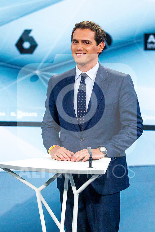 Leader of Ciudadanos Albert Rivera during the electoral debate organized by Atresmedia television network on April 22, 2019 in Madrid, Spain.(ALTERPHOTOS/Alconada).