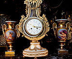 Clock, Vases, Flying Cranes Antiques, Midtown East, New York, New York