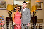 Enjoying the Gaelcholáiste Chiarraí Debs ball at the Brandon Hotel on Saturday were l-r  Erin O'Driscoll and Aaron Deely.