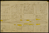 Sanborn Insurance map of Dolores with RGS structures highlighted in yellow (presumably by Dorman).<br /> RGS  Dolores, CO