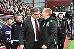 09.05.2018 Hearts v Hibs: Neil Lennon and Craig Levein