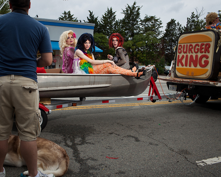 The Trailer Park Girls hitch a ride for the 27th annual N.C. PRIDE parade in Durham, NC, Saturday, September 24, 2011.