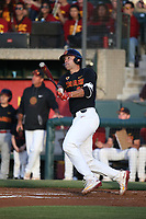 Cris Perez (29) of the Southern California Trojans bats against the Arizona State Sun Devils during a game at at Dedeaux Field on March 24, 2017 in Los Angeles, California. Southern California defeated Arizona State, 5-4. (Larry Goren/Four Seam Images)