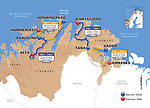 Maps and profiles for the 2018 Artic Race of Norway, a 4 stage race running from 16-19th August 2018. <br /> Picture: ASO | Cyclefile<br /> All photos usage must carry mandatory copyright credit (&copy; Cyclefile | ASO)