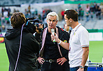 Stockholm 2014-09-28 Fotboll Superettan Hammarby IF - IK Sirius :  <br /> Hammarbys tr&auml;nare Nanne Bergstrand intervjuas innan matchen mellan Hammarby och Sirius <br /> (Foto: Kenta J&ouml;nsson) Nyckelord:  Superettan Tele2 Arena Hammarby HIF Bajen Sirius IKS portr&auml;tt portrait tr&auml;nare manager coach intervju