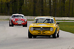 Dennis Birkholz races his 1967 Alfa Romeo GTV at the SVRA Vintage GT Challenge at Road America, 2005