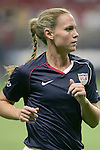 Oct 13 2007:   Christie Rampone (3) of the USA.  The US Women's National Team defeated Mexico 5-1 at the Edward Jones Dome in St. Louis on October 13th in their first of three expo matches.