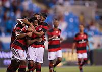 RIO DE JANEIRO, RJ, 13 MARÇO 2013 - FLAMENGO X RESENDE - Elias, do Flamengo, comemora com Hernane (9), após marcar gol sobre o Resende, em partida válida pela primeira rodada da Taça Rio, realizada no Estádio Olímpico João Havelange ( Engenhão ), na Zona Norte do Rio de Janeiro, nesta quarta-feira (13).FOTO: JORGE R JORGE - BRAZIL PHOTO PRESS