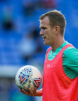 Glenn Whelan of Aston Villa during pre match warm up during the Sky Bet Championship match between Reading and Aston Villa at the Madejski Stadium, Reading, England on 15 August 2017. Photo by Andy Rowland / PRiME Media Images.