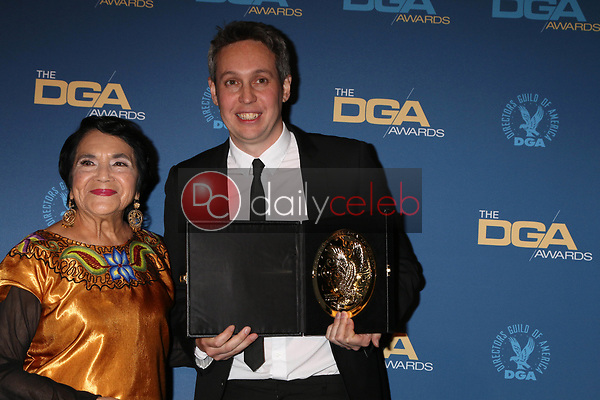 Dolores Huerta, Tim Wardle<br /> at the 71st Annual Directors Guild Of America Awards Press Room, Dolby Ballroom, Hollywood, CA 02-02-19<br /> David Edwards/DailyCeleb.com 818-249-4998