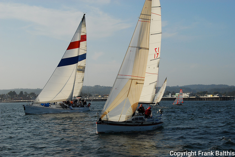 sailing off Santa Cruz