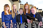 Keel ballad group who participated  in the Scor na nOg Munster semi finals in Millstreet on Sunday  l-r: Laura Benson, Jasmin Grey, Cormac Grey, Ashling O'Neill and Morgan Sayers