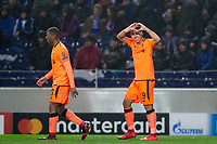 Liverpool's Roberto Firmino celebrates scoring his side's fourth goal <br /> <br /> Photographer Craig Mercer/CameraSport<br /> <br /> UEFA Champions League Round of 16 First Leg - FC Porto v Liverpool - Wednesday 14th February 201 - Estadio do Dragao - Porto<br />  <br /> World Copyright &copy; 2018 CameraSport. All rights reserved. 43 Linden Ave. Countesthorpe. Leicester. England. LE8 5PG - Tel: +44 (0) 116 277 4147 - admin@camerasport.com - www.camerasport.com