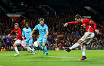 Henrikh Mkhitaryan of Manchester United fires a shot at goal during the UEFA Europa League match at Old Trafford, Manchester. Picture date: November 24th 2016. Pic Matt McNulty/Sportimage