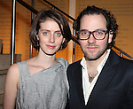 Amy Herzog & Sam Gold attending the Opening Night for the Playwrights Horizons World Premiere Production of 'The Great God Pan' at Playwrights Horizons Theatre in New York City on December 18, 2012