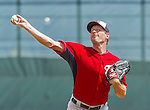 10 March 2015: Washington Nationals starting pitcher Max Scherzer on the mound during a Spring Training game against the Miami Marlins at Roger Dean Stadium in Jupiter, Florida. The Marlins edged out the Nationals 2-1 on a walk-off solo home run in the 9th inning of Grapefruit League play. Mandatory Credit: Ed Wolfstein Photo *** RAW (NEF) Image File Available ***