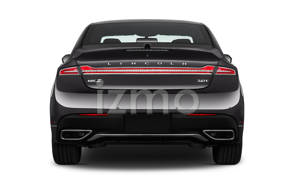 Straight rear view of 2017 Lincoln MKZ Select 4 Door Sedan Rear View  stock images
