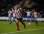 Billy Sharp of Sheffield Utd celebrates scoring the second goal during the FA Cup match at the Madejski Stadium, Reading. Picture date: 3rd March 2020. Picture credit should read: Simon Bellis/Sportimage