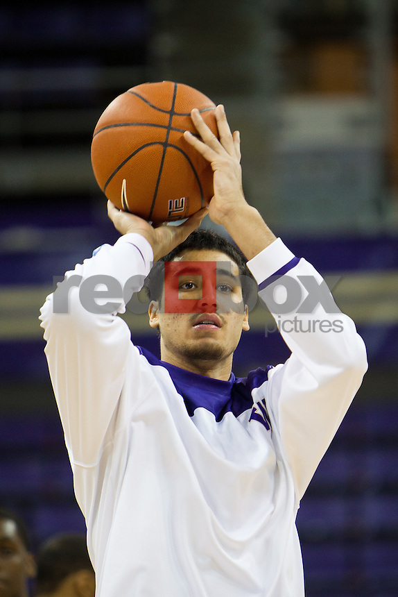 Martin Breunig..---Washington Huskies men's basketball against the California Golden Bears at Alaska Airlines Arena at Hec Edmundson Pavilion in Seattle on Thursday, January 19, 2012. (Photo by Dan DeLong/Red Box Pictures)