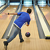 Joseph Migliorino of Levittown Division rolls during a Nassau County boys bowling match against Bellmore-Merrick at Levittown Lanes on Thursday, Nov. 30, 2017. He bowled a 211 in his third game to help his team to an 8-3 win.