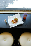 USA, California, San Francisco, the Foie Gras sandwich at Naked Lunch restaurant in North Beach
