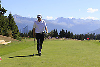Stephen Gallacher (SCO) walks onto the 7th tee during Sunday's Final Round 4 of the 2018 Omega European Masters, held at the Golf Club Crans-Sur-Sierre, Crans Montana, Switzerland. 9th September 2018.<br /> Picture: Eoin Clarke | Golffile<br /> <br /> <br /> All photos usage must carry mandatory copyright credit (© Golffile | Eoin Clarke)