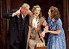 Harvey<br /> by Mary Chase <br /> at Birmingham Rep Theatre, Birmingham, Great Britain <br /> Press photocall <br /> 11th February 2015<br /> Desmond Barrit as Judge Omar Gaffney <br /> Maureen Lipman as Veta Louise Simmons <br /> <br /> Ingrid Oliver as Myrtle Mae Simmons <br /> <br /> <br /> Directed by Lindsey Posner<br /> <br /> <br /> Photograph by Elliott Franks