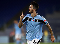 Football, Serie A: S.S. Lazio - Fiorentina, Olympic stadium, Rome, June 27, 2020. <br /> Lazio's Luis Alberto celebrates after scoring during the Italian Serie A football match between S.S. Lazio and Fiorentina at Rome's Olympic stadium, Rome, on June 27, 2020. <br /> UPDATE IMAGES PRESS/Isabella Bonotto