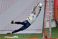 20th April 2020, Munich, Germany; Manuel NEUER (Bayern Munich),<br /> training at Saebener Strasse.