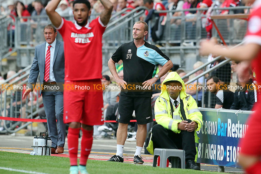 Rover's manager Darrell Clarke during Leyton Orient vs Bristol Rovers, Sky Bet League 2 Football at the Matchroom Stadium, London, England on 29/08/2015