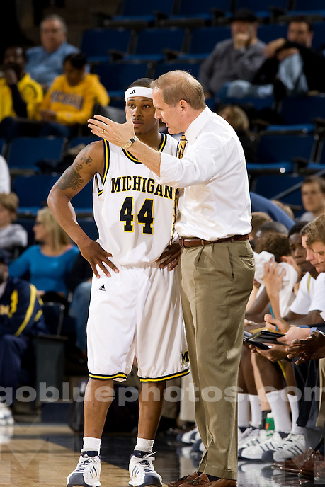 University of Michigan basketball (men) 66-64 victory over Savannah State at Crisler Arena  on 11/29/08.