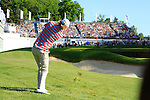 Chris Wood chips onto the 18th green to lead at the end of Round 3 of the BMW PGA Championship at  Wentworth, Surrey, England, 22nd May 2010...Photo Golffile/Eoin Clarke.(Photo credit should read Eoin Clarke www.golffile.ie)....This Picture has been sent you under the condtions enclosed by:.Newsfile Ltd..The Studio,.Millmount Abbey,.Drogheda,.Co Meath..Ireland..Tel: +353(0)41-9871240.Fax: +353(0)41-9871260.GSM: +353(0)86-2500958.email: pictures@newsfile.ie.www.newsfile.ie.