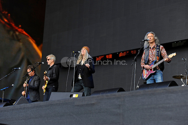 LONDON, ENGLAND - JULY1: Patti Smith and Lenny Kaye performing at British Summertime, Hyde Park on July 1, 2016 in London, England.<br /> CAP/MAR<br /> &copy;MAR/Capital Pictures /MediaPunch ***NORTH AND SOUTH AMERICAS ONLY***