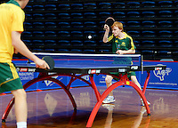 Rory Carroll (AUS)<br /> 2013 ITTF PTT Oceania Regional<br /> Para Table Tennis Championships<br /> AIS Arena Canberra ACT AUS<br /> Wednesday November 13th 2013<br /> © Sport the library / Jeff Crow