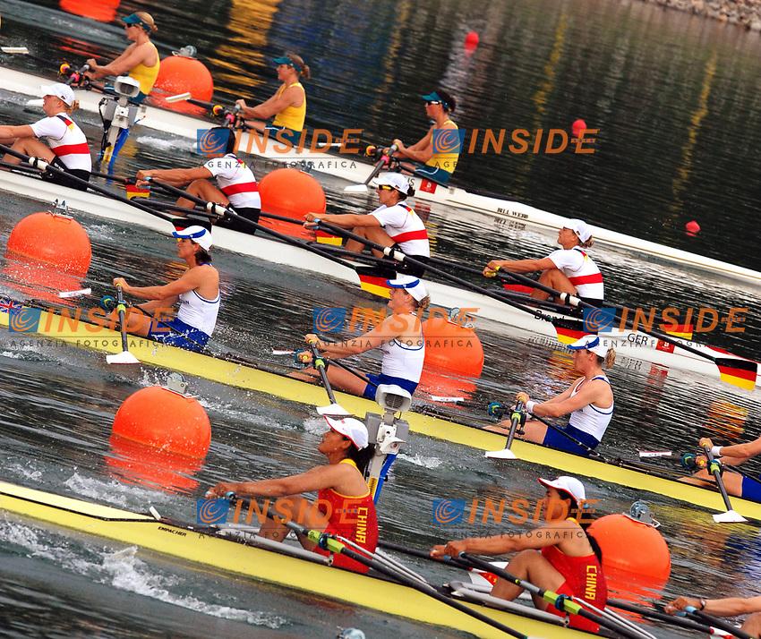 La partenza del quattro di coppia donne<br /> Sy Rowing and Canoeing Park<br /> Pechino - Beijing 17/8/2008 Olimpiadi 2008 Olympic Games<br /> Foto Andrea Staccioli Insidefoto