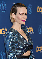 HOLLYWOOD, CA - FEBRUARY 02: Sarah Paulson  attends the 71st Annual Directors Guild Of America Awards at The Ray Dolby Ballroom at Hollywood & Highland Center on February 02, 2019 in Hollywood, California.<br /> CAP/ROT/TM<br /> ©TM/ROT/Capital Pictures