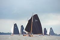 SKUTSJESILEN: SNEEK: Snitser Mar, 16-06-2012, 8e editie Waterpoortrace, skûtsjesilen, skûtsje Langweer, Ut 'e Striid, schipper Jaap Zwaga, ©foto Martin de Jong