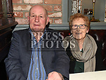 Pat Leavy who played his first match for St Marys in 1953 with his wife Maureen at St Mary's GFC awards dinner in Muldoons. Photo:Colin Bell/pressphotos.ie