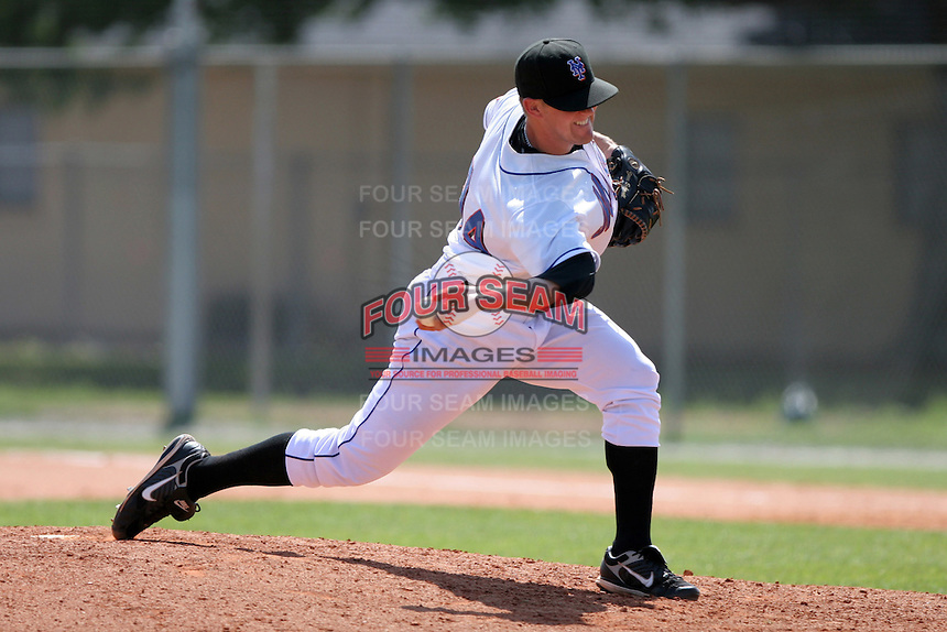 New York Mets minor leaguer Steve Schmoll during Spring Training at the Carl Barger Training Complex on March 22, 2007 in Melbourne, Florida.  (Mike Janes/Four Seam Images)