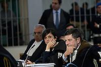 Roma, 24 Novembre 2015<br /> Giosuè Bruno Naso, avvocato difensore di Massimo Carminati con la figlia Ippolita Naso.<br /> Aula bunker di Rebibbia<br /> Quarta udienza del processo Mafia Capitale,