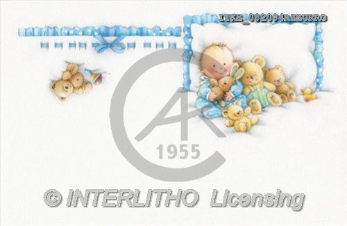 Isabella, BABIES, paintings(ITKE082084AZZURRO,#B#) bébé, illustrations, pinturas ,everyday
