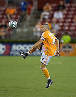 Houston Dynamo defender Wade Barrett (24). The Houston Dynamo tied the Columbus Crew 1-1 in a regular season MLS match at Robertson Stadium in Houston, TX on August 25, 2007.