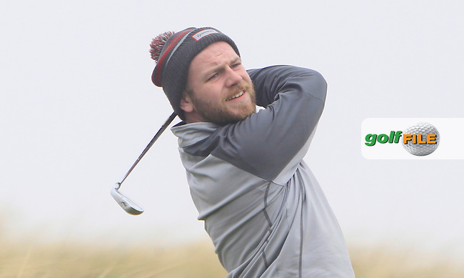 Michael Reid (Galgorm Castle) during the 36 hole stroke play qualifying on April 4th 2015 for the 2015 West of Ireland Open Championship, Co. Sligo, Golf Club, Rosses Point, Sligo, Ireland.<br /> Picture: Thos Caffrey / Golffile
